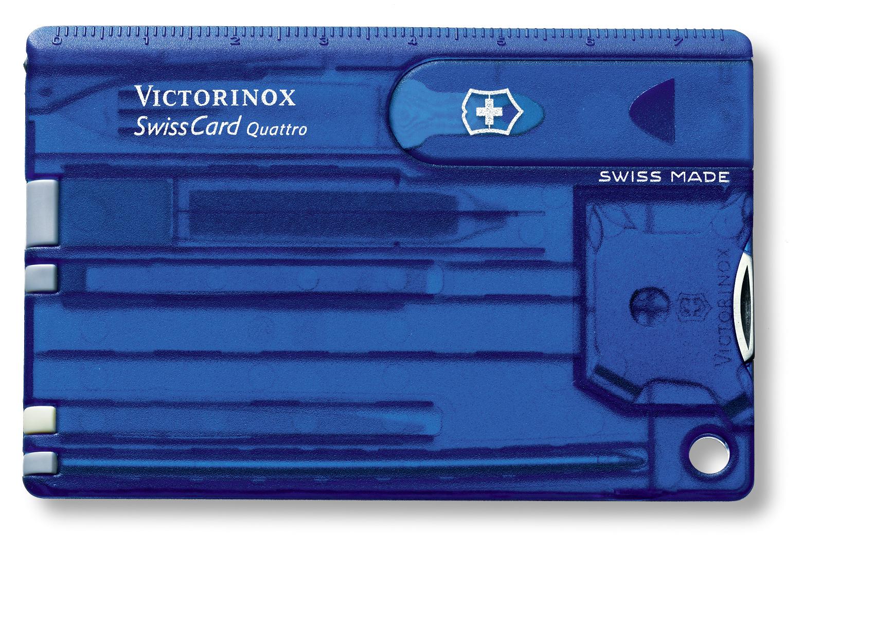 Швейцарская карточка Victorinox SwissCard Quattro, синяя