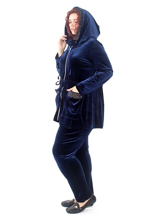 женские спортивные велюровые костюмы большого размера