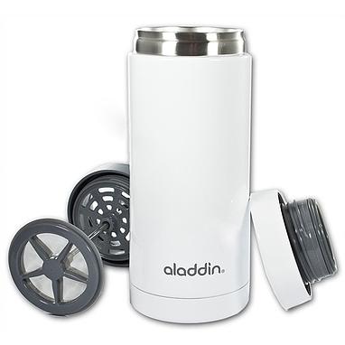 Термокружка с прессом Aladdin Aveo Travel Press 0,3л. белый