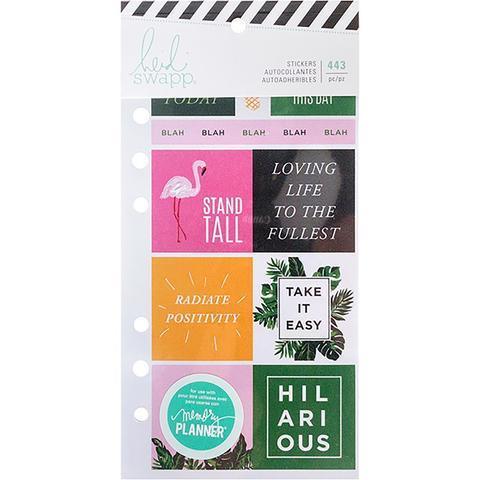 Стикербук - Heidi Swapp Memory Planner Cardstock Stickers - Fresh Start, Tropical -443 шт