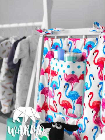 органайзер на дитяче ліжечко з різнокольоровими фламінго фото