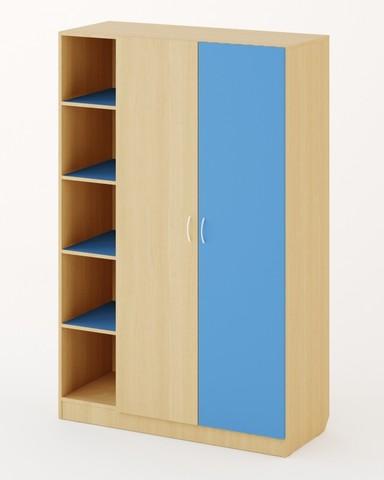 Шкаф ШК-19 дуб беленый / синий