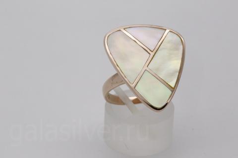 Кольцо с перламутром из серебра 925