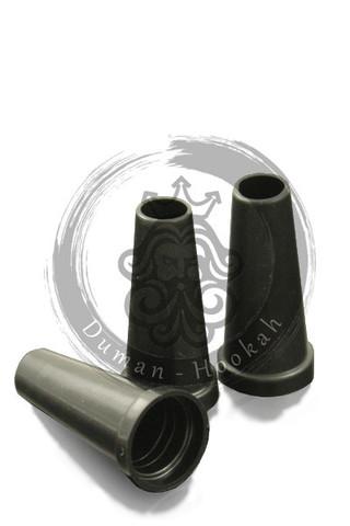 Мундштуки одноразовые для кальяна | Конус с бортом Черные 100шт