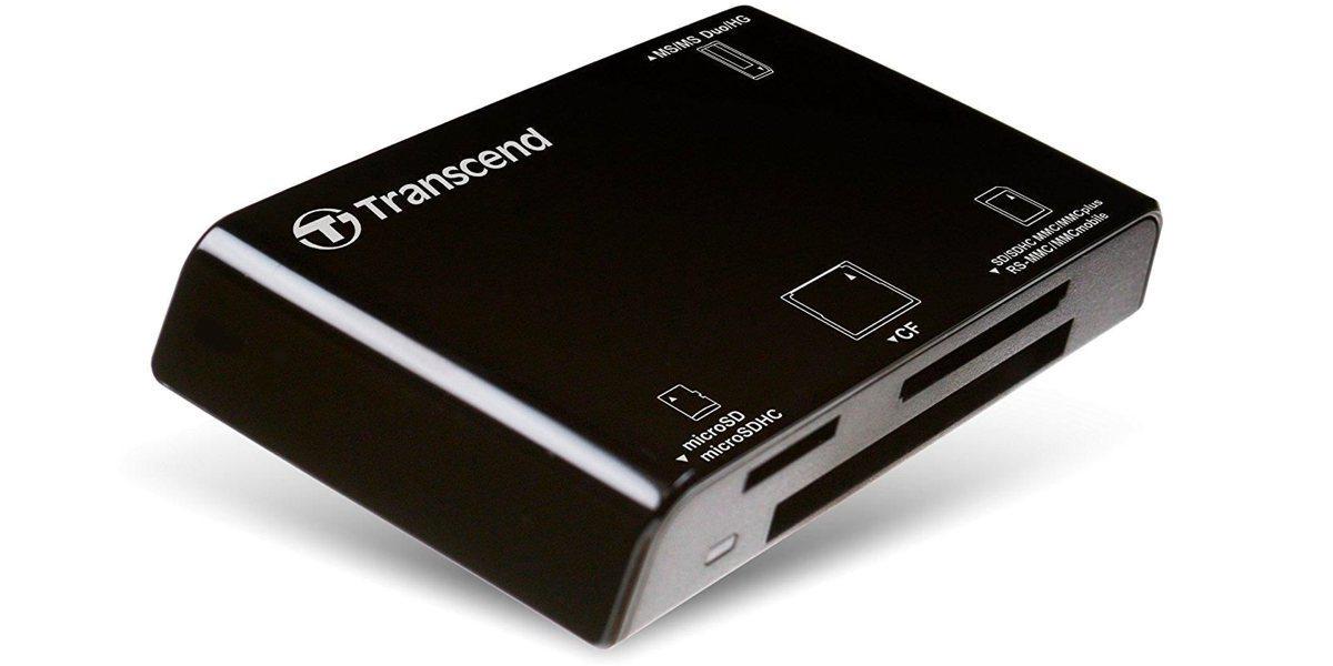 Устройство чтения/записи флеш карт Transcend RDC8, all-in-1, USB 3.1 вид слева