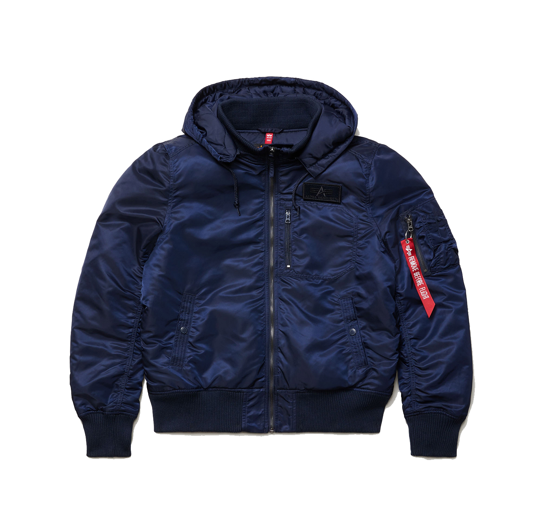 Куртка Alpha Industries MA-1 Hooded Rib Flight Jacket Replica Blue (синяя)