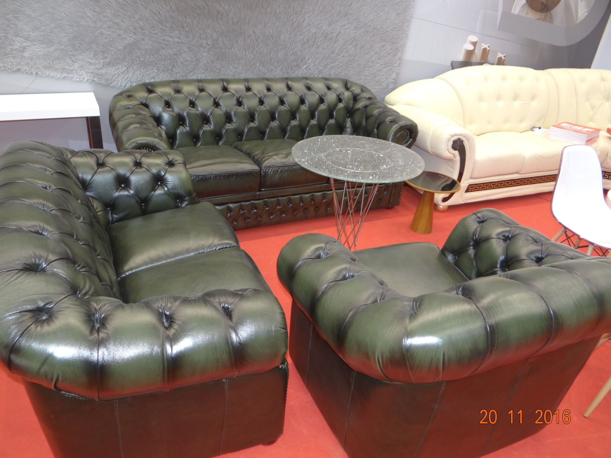 Комплект мягкой мебели ESF B-128 зеленый