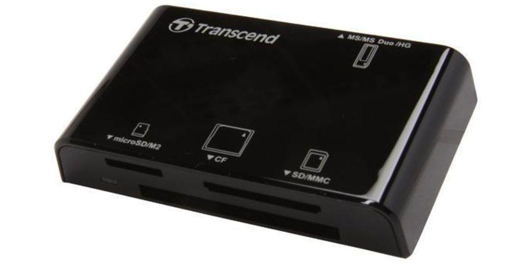 Устройство чтения/записи флеш карт Transcend RDC8, all-in-1, USB 3.1 вид справа