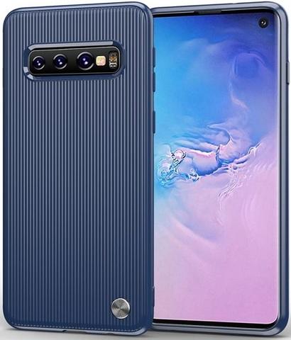 Чехол Samsung Galaxy S 10 цвет Blue (синий), серия Bevel, Caseport