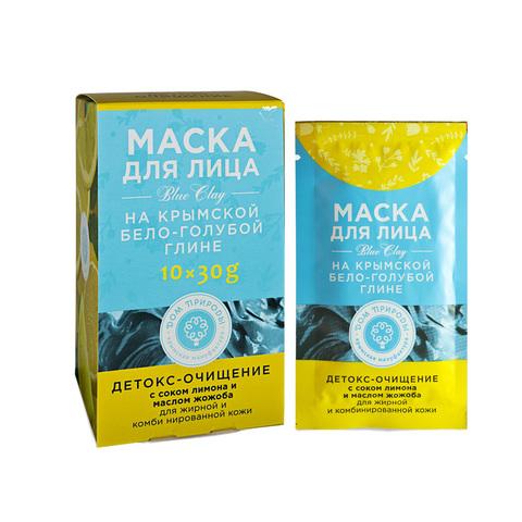 МДП Маска ДЕТОКС-ОЧИЩЕНИЕ для жирной и комбинированной кожи на основе Крымской бело-голубой глины (саше пакет 30г)