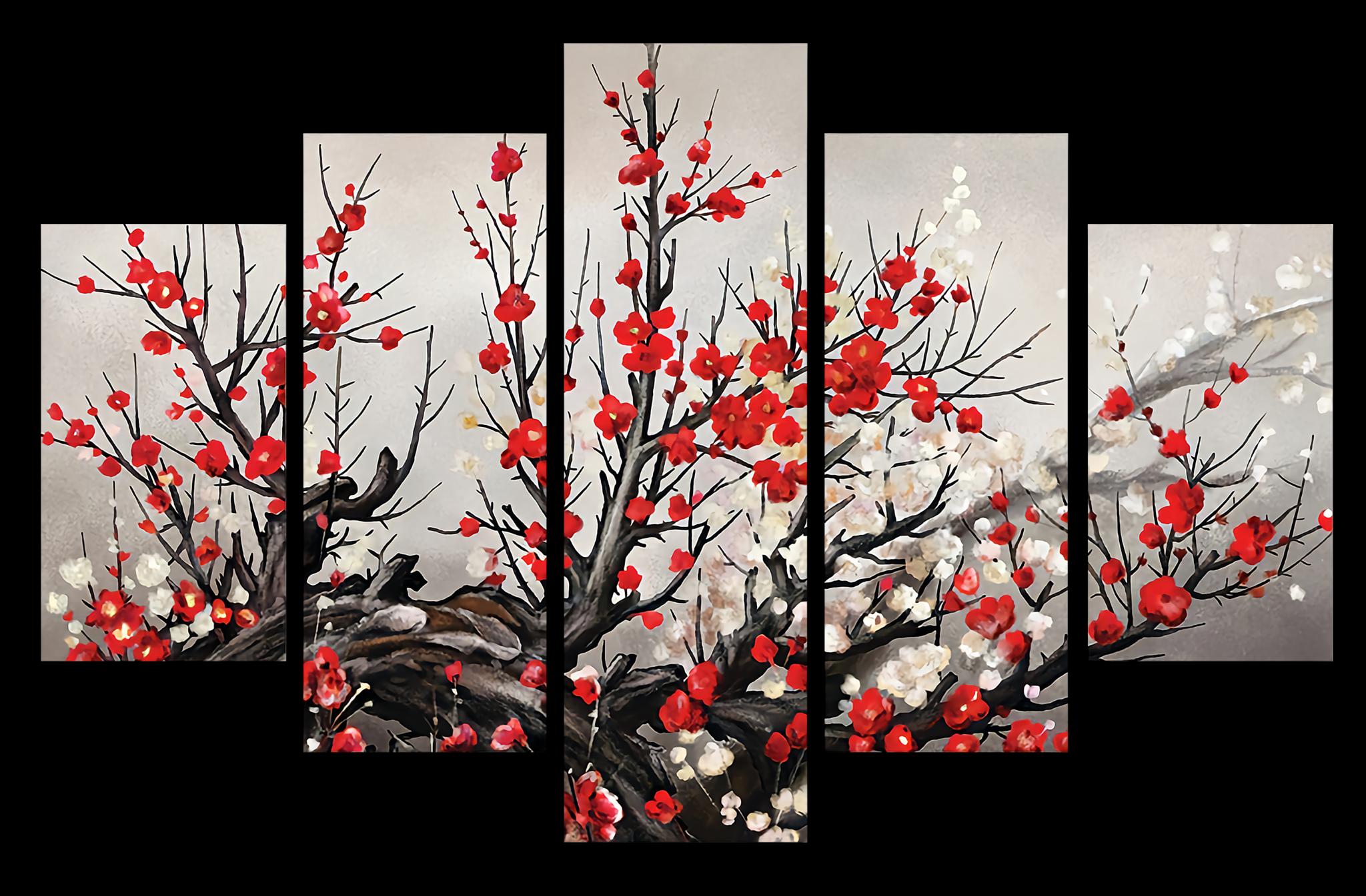 "Модульные картины Модульная картина ""Цветущая сакура"" мк0002.png"