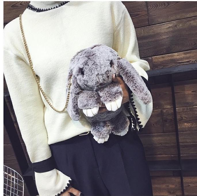 Серый-сноу (шиншила) вариант цвета сумки кролик
