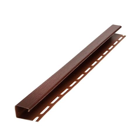 J-профиль НОРДСАЙД Темно-коричневый 3050 мм