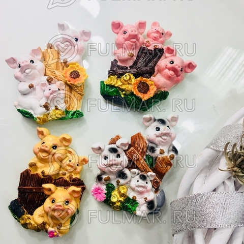 Магнит новогодний 2019 символ год свиньи