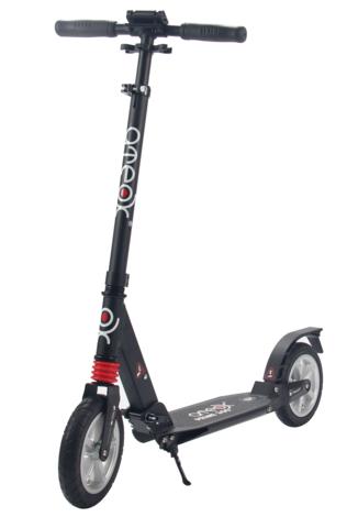 Самокат для взрослых Аteox Prime 300 с надувными колесами (черный)