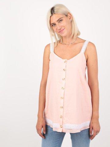Евромама. Блуза-топ для беременных и кормящих батистовая, персик вид 1