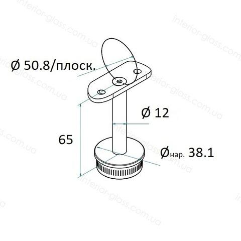 Верхний элемент стойки D=38,1 мм ST-422 с ложементом