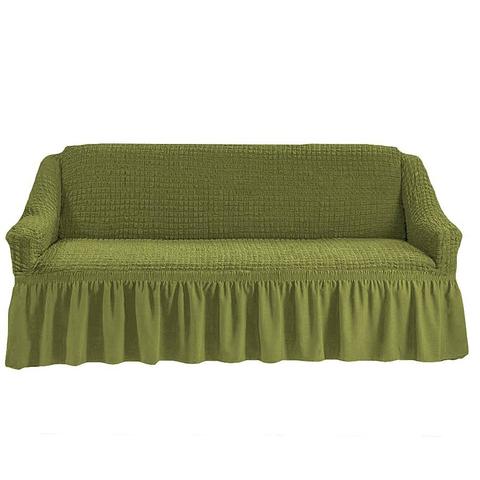 Чехол на четырехместный диван, олива