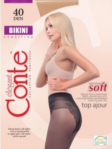 Conte Bikini Колготки женские 40d, p.3 mocca