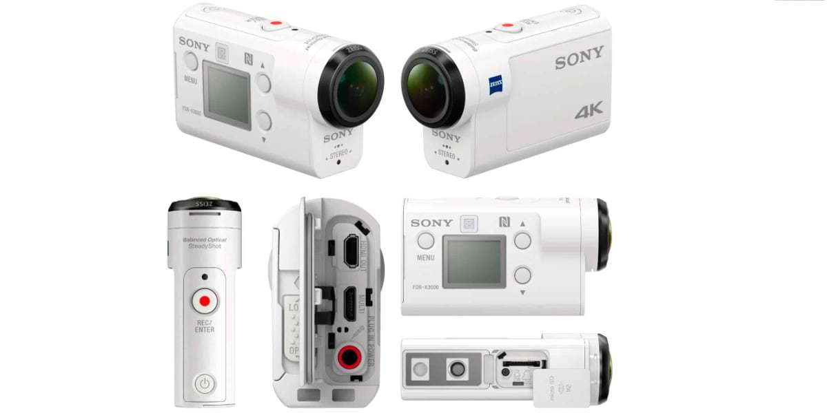 Экшн-камера Sony FDR-X3000 вид со всех сторон