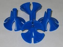 Зажим для шарика синий (100 шт)