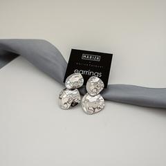 Серьги джекеты с металлическими пластинами  оптом и в розницу
