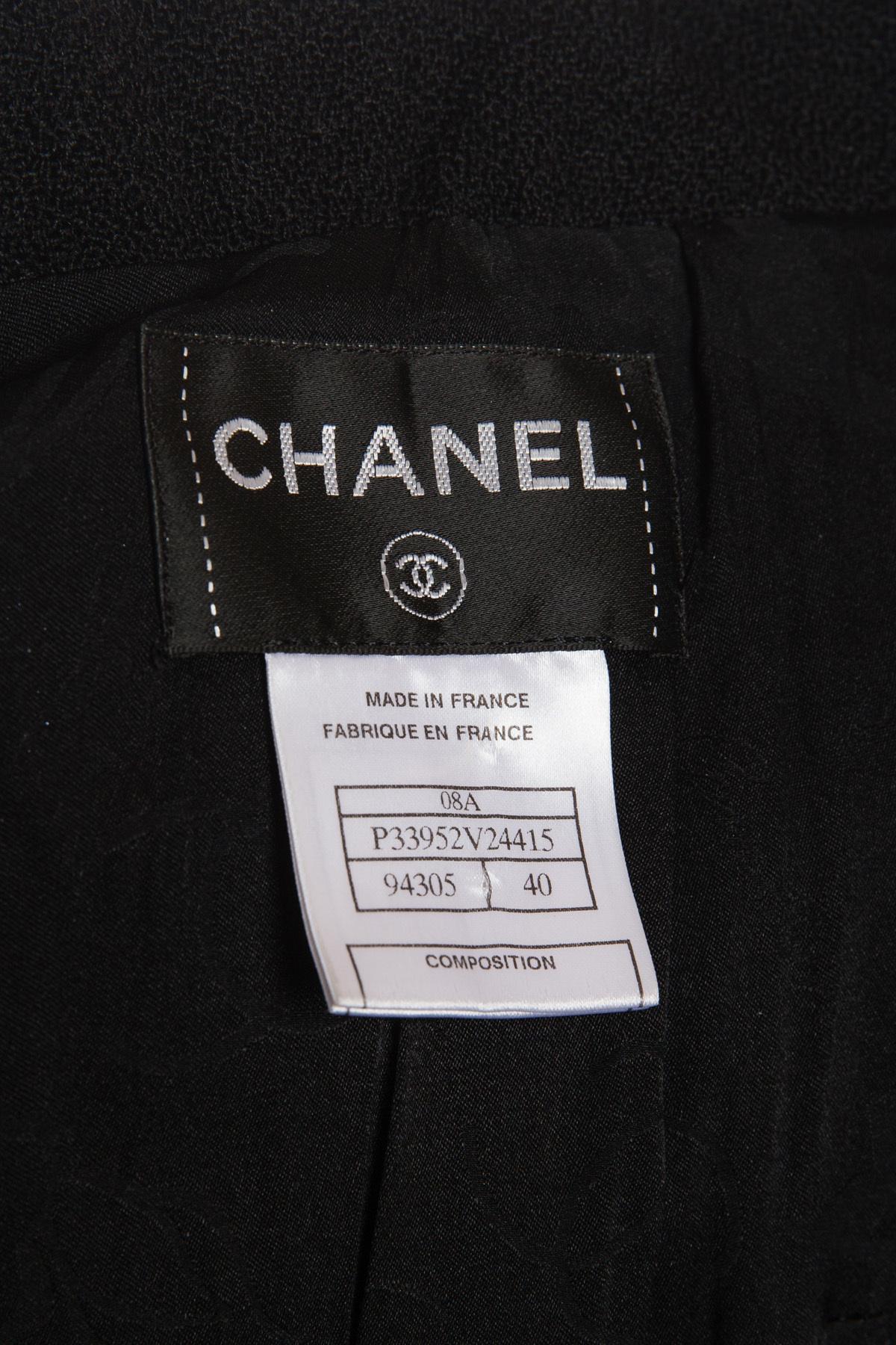 Элегантное темно-синее платье с поясом от Chanel, 40 размер