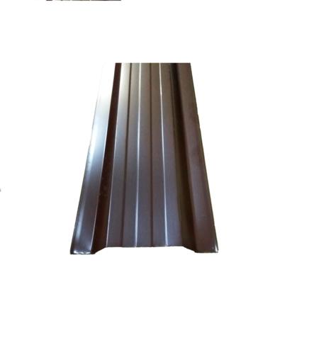 Штакетник металлический коричневый односторонний