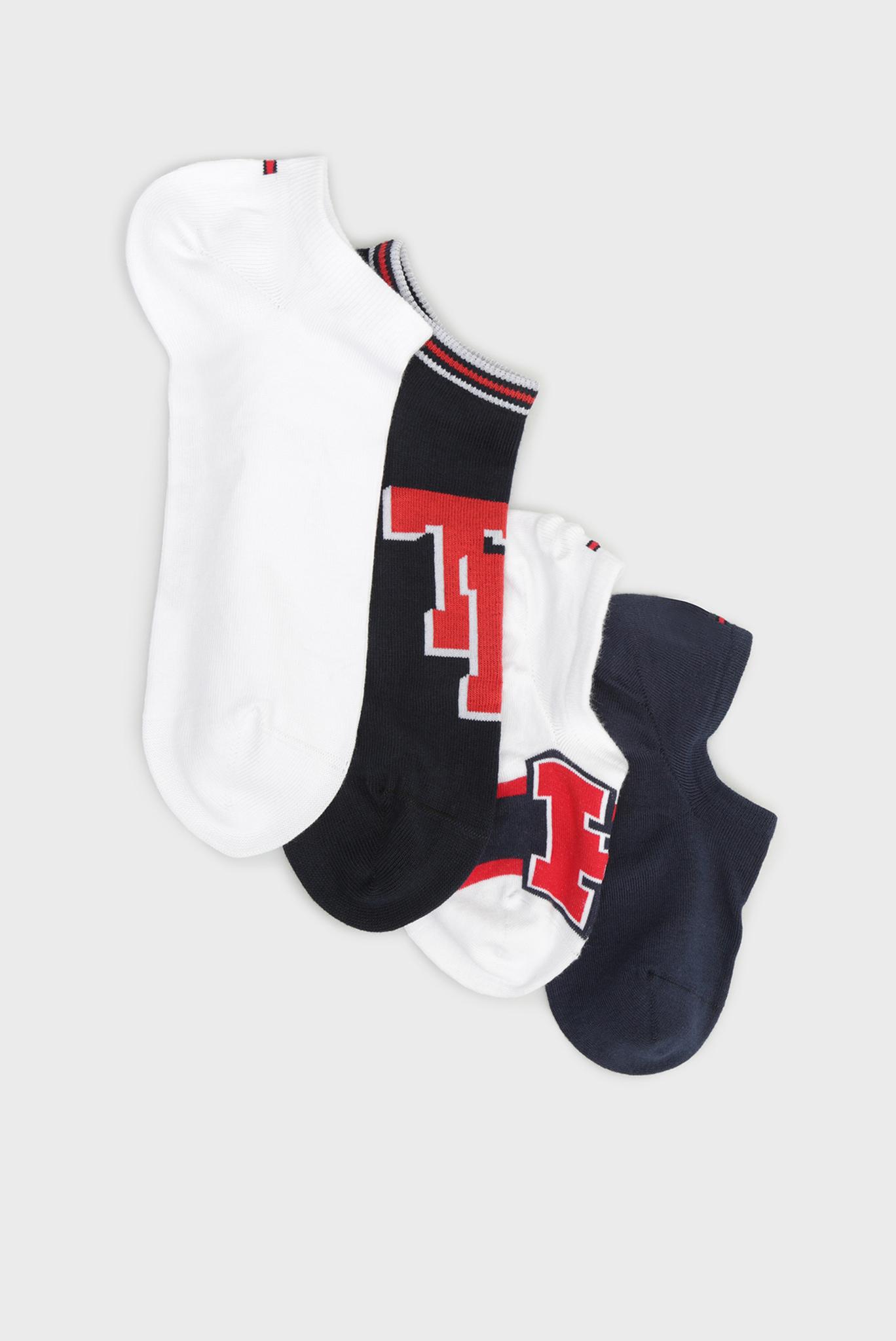 Хлопковые носки TH UNISEX SNEAKER BOX (4 пары) Tommy Hilfiger