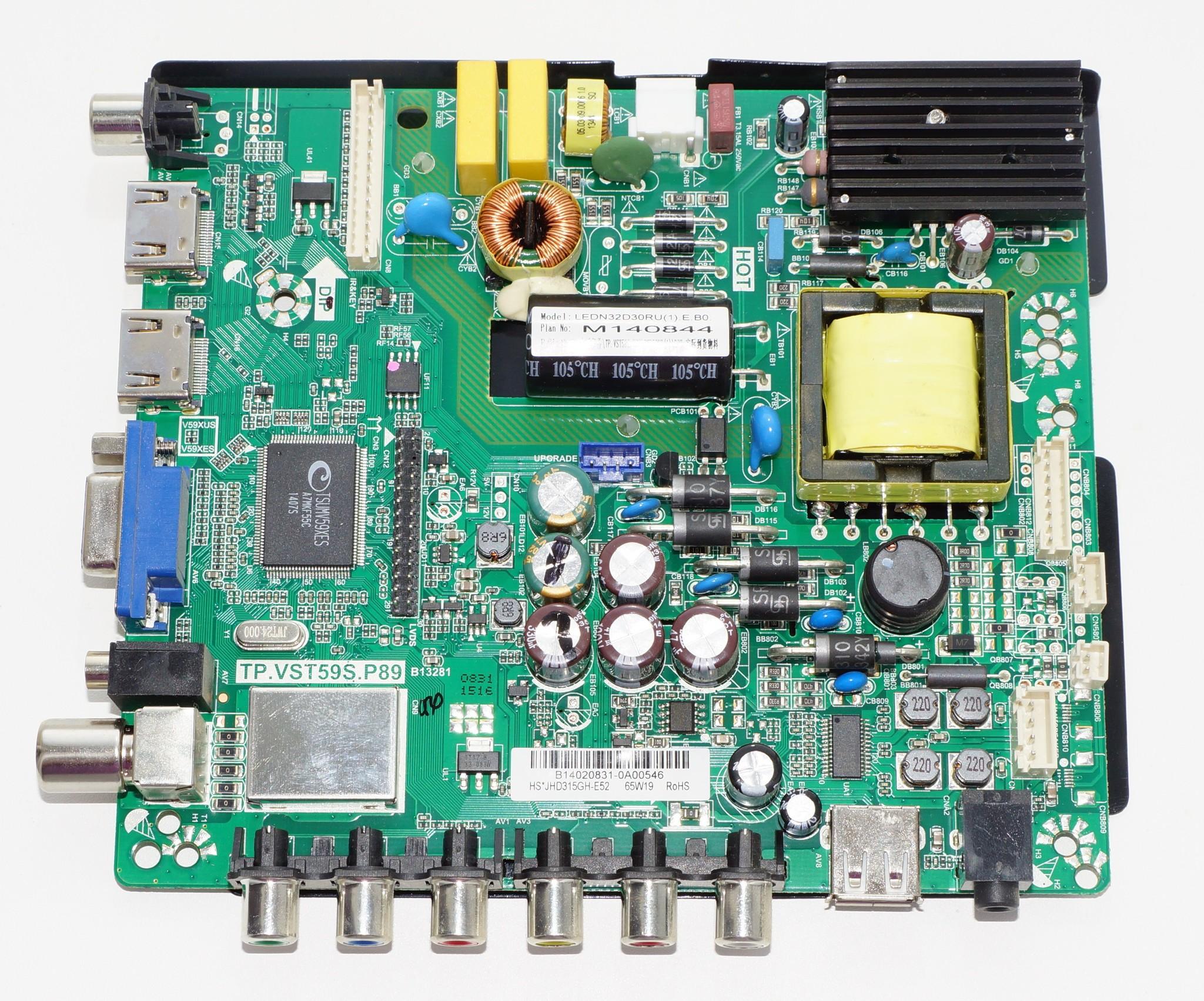TP.VST59S.P89 mainboard телевизора Fusion, DNS