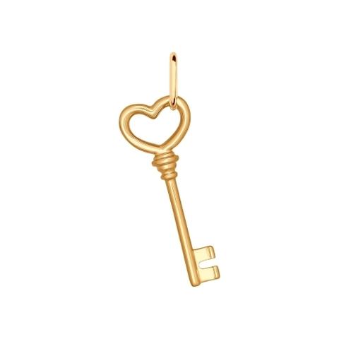 93030317- Подвеска из золочёного серебра