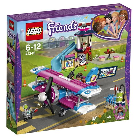 LEGO Friends: Экскурсия по Хартлейк-Сити на самолёте 41343 — Heartlake City Airplane Tour — Лего Френдз Друзья Подружки