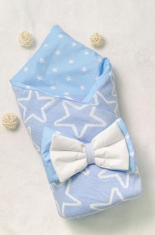 Конверт на выписку новорожденных из роддома (Звезда Голубой)