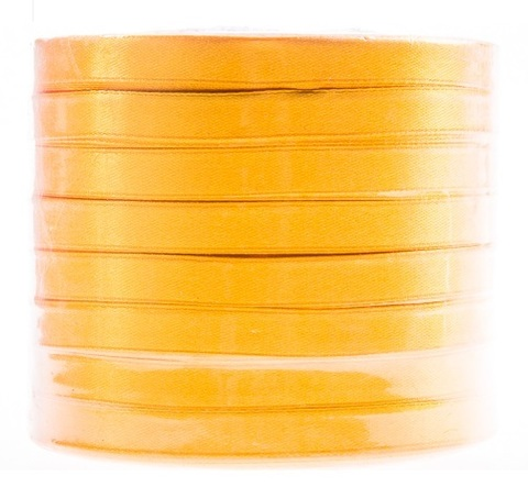 Лента атласная (размер: 10 мм х 50 ярд) Цвет: желтый