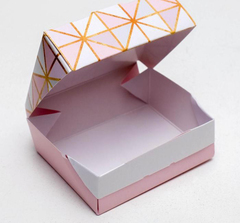 Коробка с окном складная «Геометрия», 10 × 8 × 3,5 см, 1 шт.