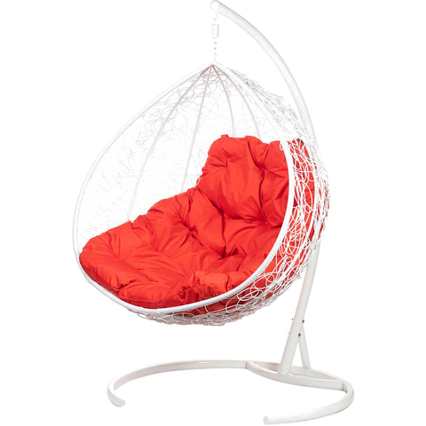 Двухместное подвесное кресло Gemini White