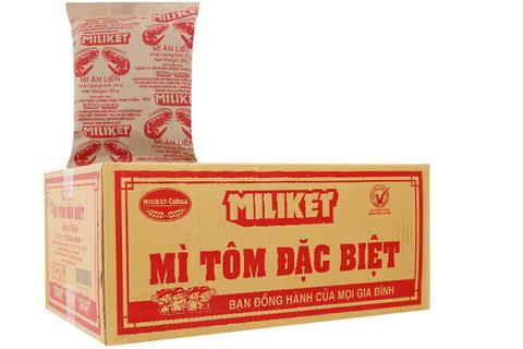 Пшеничная лапша «Miliket» со вкусом креветки - Коробка 30х75 гр.