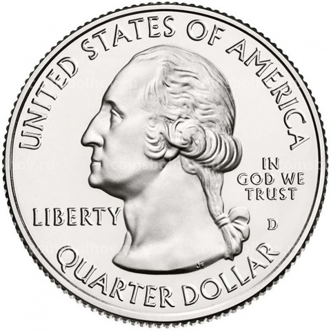 25 центов 44 - й парк США Cumberland Island (Национальное побережье острова Кумберленд) (двор D)