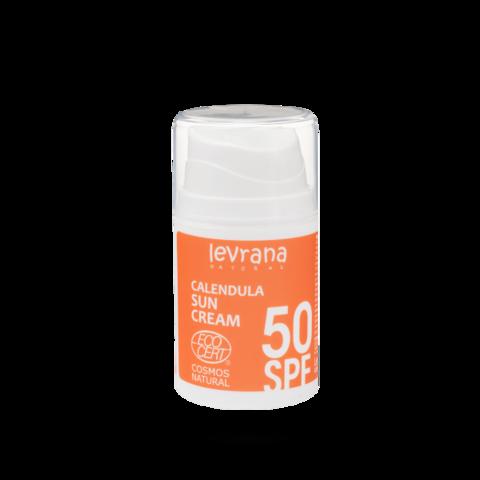Levrana Солнцезащитный крем для лица и тела Календула 50SPF, 50мл