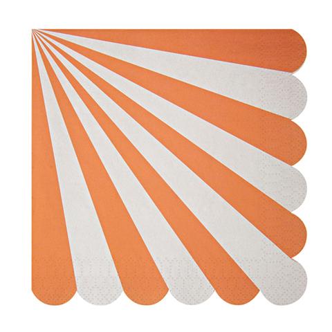 Салфетки в оранжевую полоску, большие