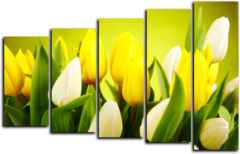 """Модульная картина """"Тюльпаны солнца"""""""