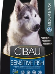 Корм для собак средних и крупных пород, Farmina Cibau Sensitive Medium/Maxi, с рыбой