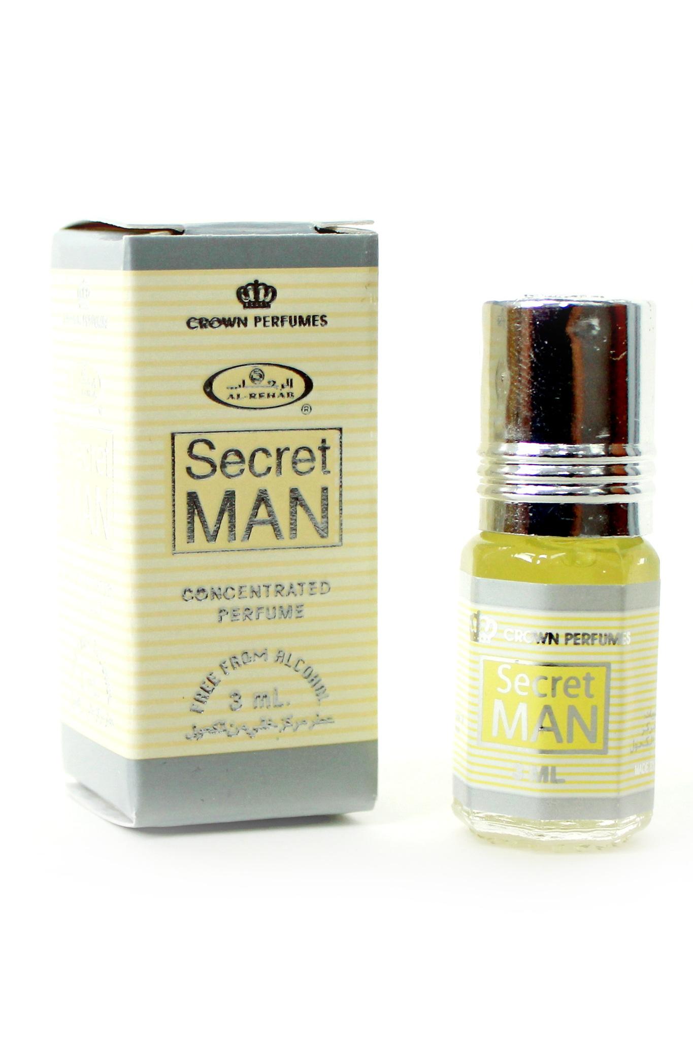 Secret Man Сикрет Мэн 3 мл арабские мужские масляные духи от Аль Рехаб Al Rehab