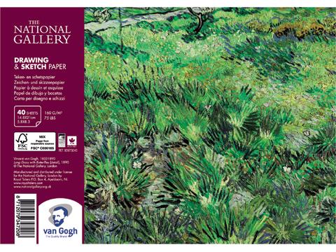 Альбом для зарисовок Royal Talens Van Gogh National Gallery, 160 гр/м.кв, А5, 40 листов на спирали