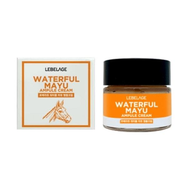 Крем ампульный увлажняющий с лошадиным маслом Lebelage Ampule Cream Waterful Mayu 70мл