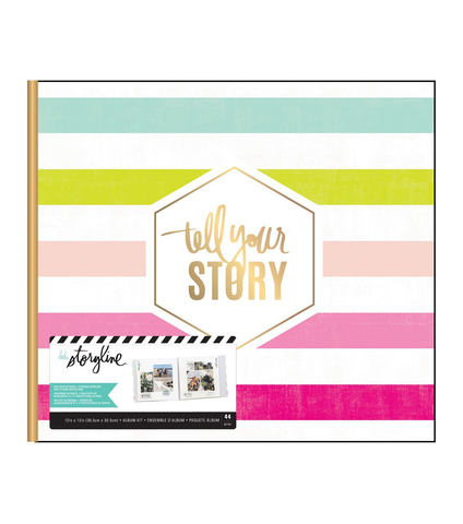 Альбом в переплете для Project Life 30х30 см - Heidi Swapp Storyline 3 Post Bound Album- Tell Your Story