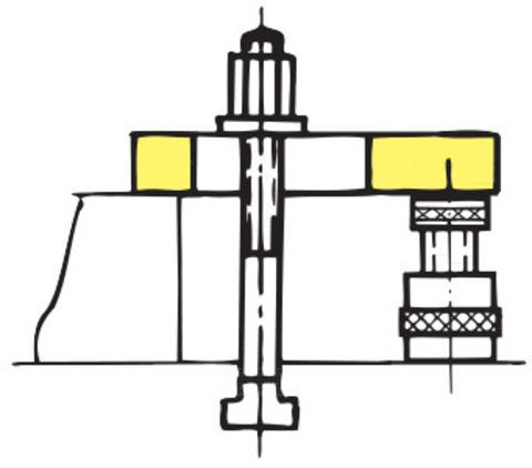 Винтовой домкрат со стальной нижней частью
