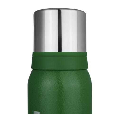 Термос Biostal Охота (0,75 литра), 2 чашки, зеленый