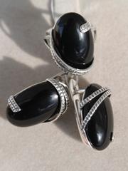 Павла (кольцо + серьги из серебра)