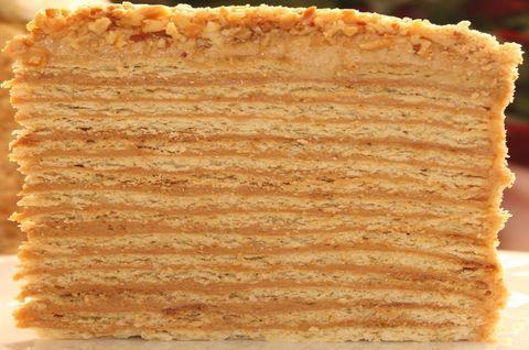 Тонкие слои безглютенового Медовика, очень вкусный торт